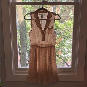 Blush/Peach Polka Dot Collared Dress